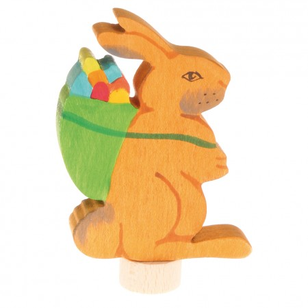 Grimm's Rabbit with Basket Decorative Figure