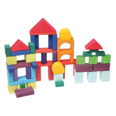 Grimm's 60 Coloured Geo Blocks