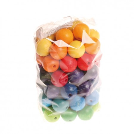Grimm's 60 Coloured Beads 20mm