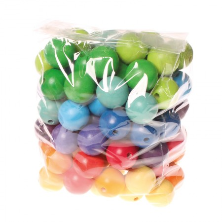 Grimm's 96 Coloured Beads 30mm