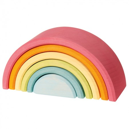 Grimm's Pastel Rainbow (6 Pieces)