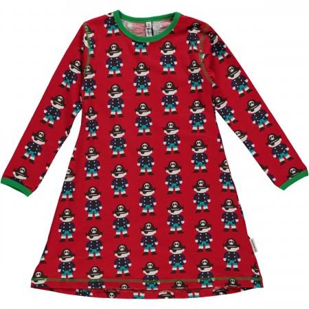 Maxomorra Red Pirate LS Dress