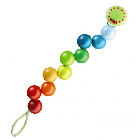 Haba Rainbow Pearl Pacifier Chain