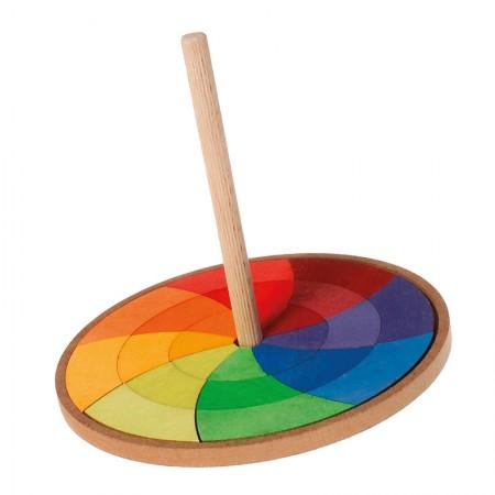 Grimm's Rainbow Hand Spinning Top