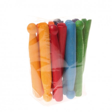 Grimm's 12 Coloured Clothes Pins