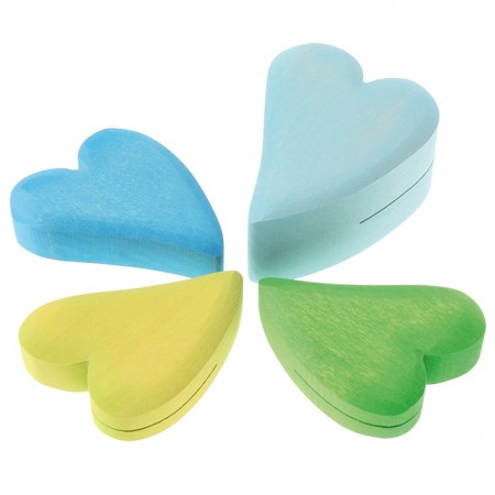 Grimm's Green Hearts Picture Holders x 4