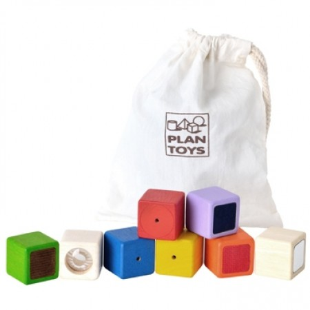 Plan Toys Activity Blocks - Touch, Feel & See