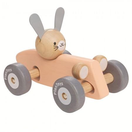 Plan Toys Bunny Racing Car - Peach