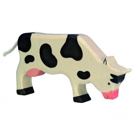 Holztiger Black Grazing Cow