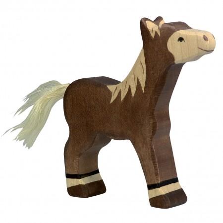 Holztiger Dark Brown Standing Foal
