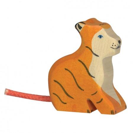 Holztiger Small Sitting Tiger