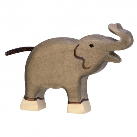 Holztiger Small Elephant With Raised Trunk