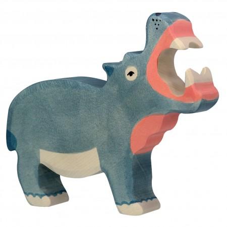 Holztiger Hippopotamus