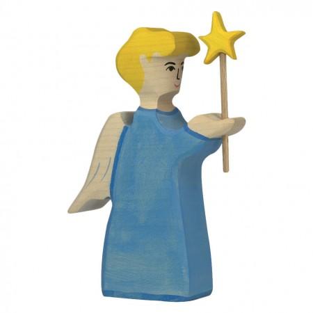 Holztiger Angel With Star