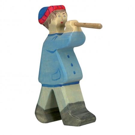 Holztiger Shepherd With Flute 2