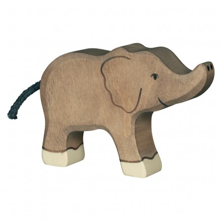 Holztiger Small Elephant With Raised Trunk 2