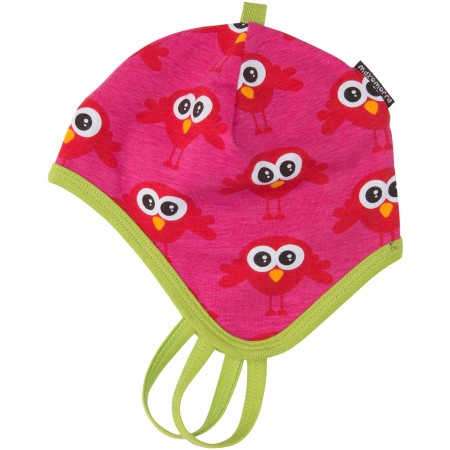 Maxomorra Red Bird Baby Hat