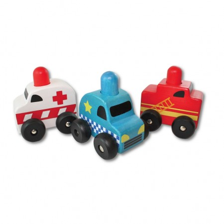 DiscoverO Squeaker Emergency Car Set