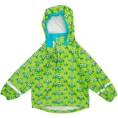 Maxomorra Rain Jacket Green Bird