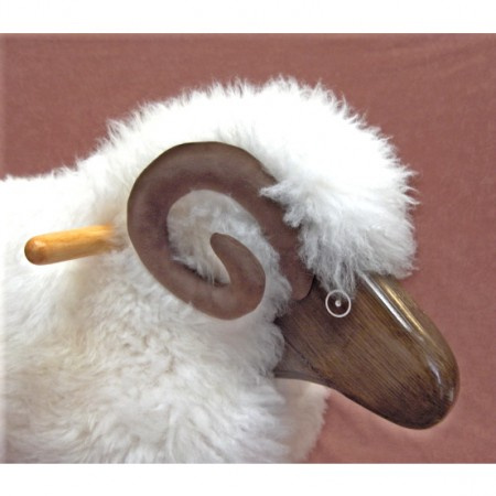 Rocking Sheep - Ivory Fleece Ram (Made in Wales)