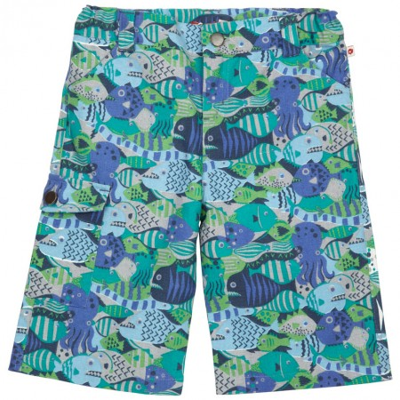 Piccalilly Sea Camo Combat Shorts