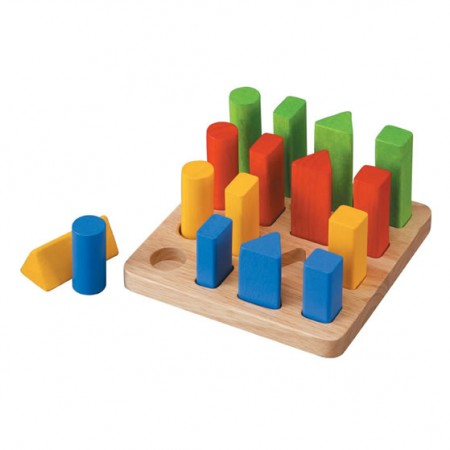 Plan Toys Geometric Peg Board