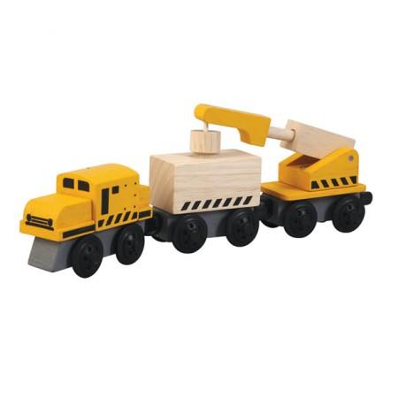 Plan Toys Crane Train PlanWorld