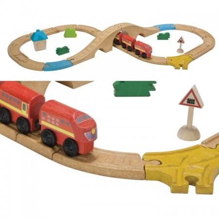 Plan Toys Figure Eight Railway PlanWorld