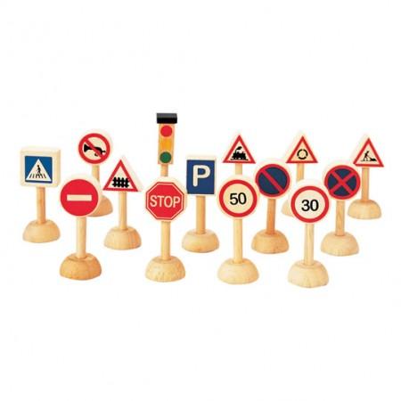 Plan Toys Set of Traffic Signs & Lights PlanWorld