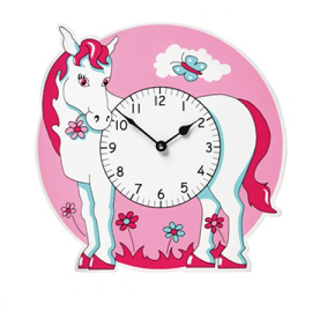 Fair Trade Pink Pony Horse Clock