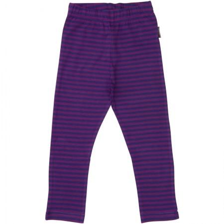 Maxomorra Dark Purple Stripe Leggings