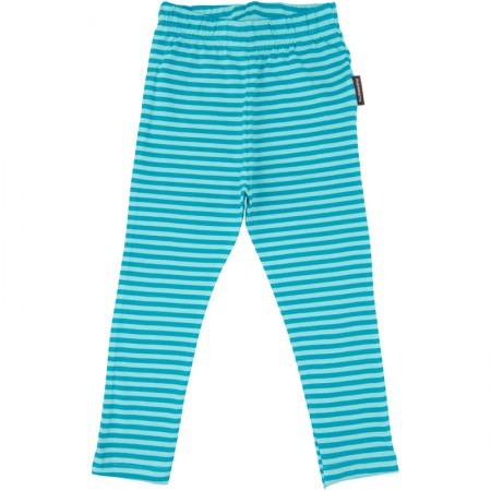 Maxomorra Turquoise Stripe Leggings