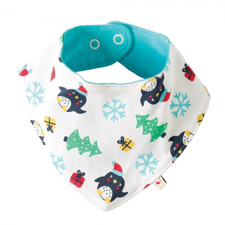 Frugi Penguin Party Dribble Bib