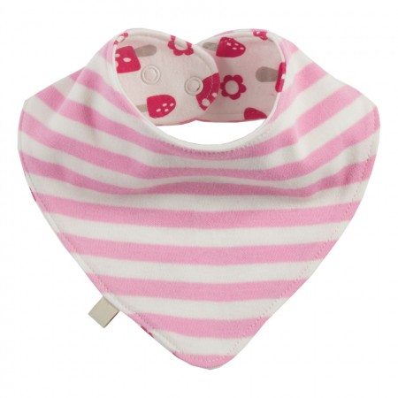 Frugi Woodland Mushrooms Dribble Bib