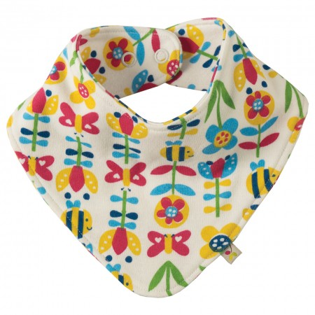 Frugi Soft Bumble Bloom Dribble Bib