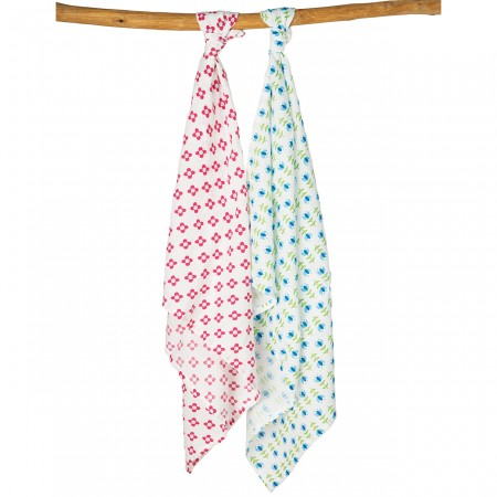 Frugi Flowers and Tulips Lovely Muslins x2