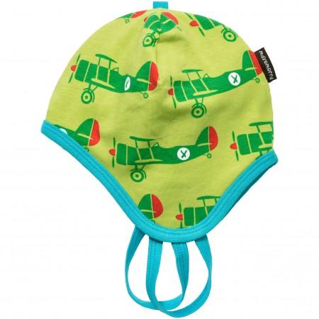 Maxomorra Aeroplane Baby Bonnet Hat