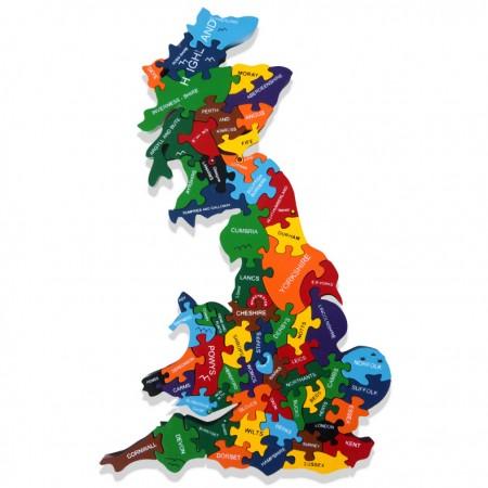 Alphabet Jigsaws Wooden Map of Britain