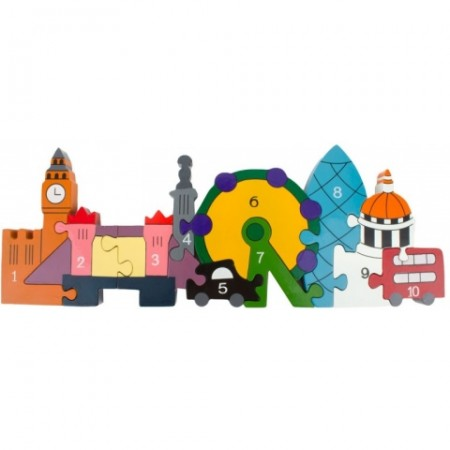 Alphabet Jigsaws Wooden London Skyline