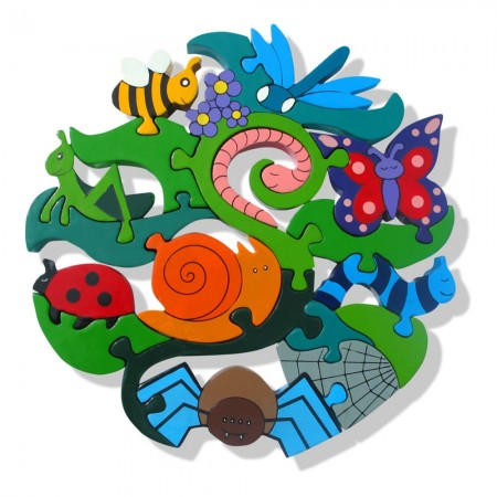 Alphabet jigsaws wooden creepy crawlies - Lounger for the garden crossword ...