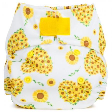 Baba + Boo Newborn Nappy - Sunflowers