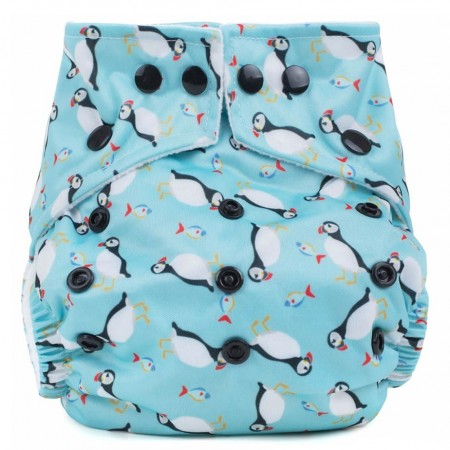 Baba + Boo One-Size Nappy - Puffins