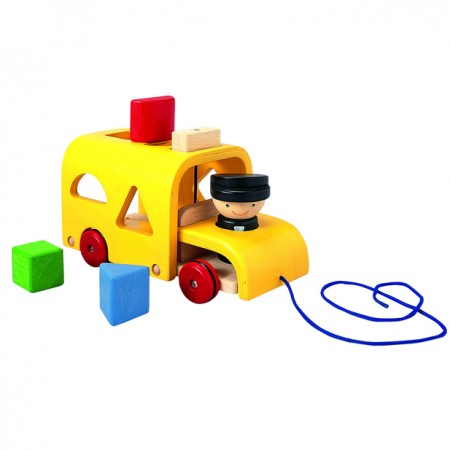 Plan Toys Sorting Bus - Pull Along