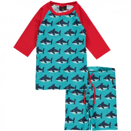 Maxomorra Sharks Swimwear Set