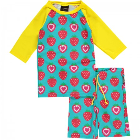 Maxomorra Strawberry Swimwear Set
