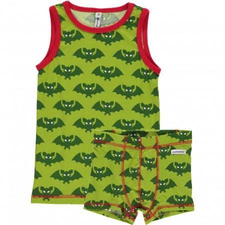Maxomorra Bat Boxers & Vest Set