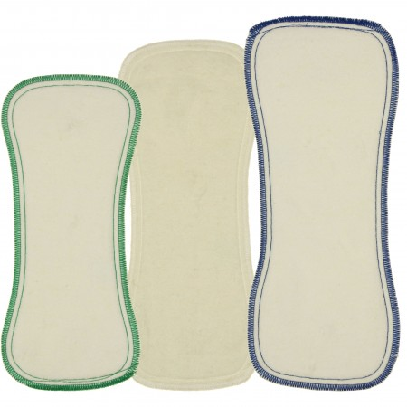 Best Bottom Hemp/Organic Cotton Inserts 3pk