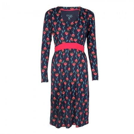 Frugi Tulip Row Gathered Dress
