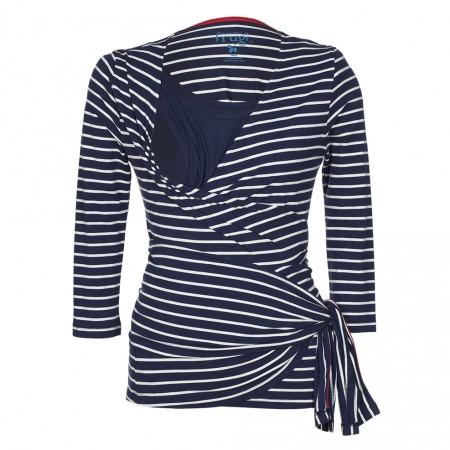 Frugi Navy Breton Wrap Top