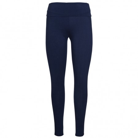 Frugi Navy Roll Top Yoga Pants